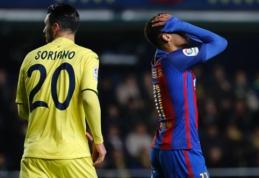 """L. Messi baudos smūgis rungtynių pabaigoje išplėšė tašką prieš """"Villarreal"""" (VIDEO)"""