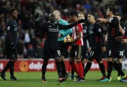 """""""Man City"""" dešimtyje palaužė """"Burnley"""", """"Liverpool"""" išleido pergalę prieš """"Sunderland"""" (VIDEO)"""