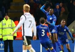 """""""Leicester"""" po pratęsimo žengė į kitą FA taurės etapą (VIDEO)"""