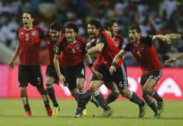 Egiptas iškopė į Afrikos Nacijų taurės finalą (VIDEO)