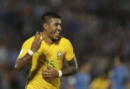 PČ atranka: Paulinho vedama Brazilija sutriuškino Urugvajų, L. Messi įvartis nulėmė pergalę prieš Čilę (VIDEO)