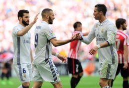 """""""Real"""" po atkaklios kovos išvykoje pranoko """"Athletic"""" (VIDEO)"""