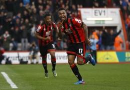 """""""Premier"""" lygoje - J. Kingo """"hat-trickas"""" ir """"Everton"""", """"Bournemouth"""" bei """"Hull City"""" pergalės (VIDEO)"""