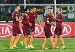 """S. El Shaarawy ir M. Salah vedamas """"Roma"""" klubas sutriuškino """"Pescara"""" (VIDEO)"""