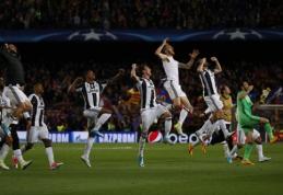 """""""Juventus"""" ir """"Monaco"""" užtikrintai žengė į Čempionų lygos pusfinalį (VIDEO)"""