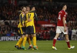 """""""Arsenal"""" po atkaklios kovos palaužė """"Middlesbrough"""" (VIDEO)"""