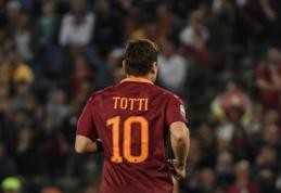 Atsisveikinimas su legenda: F. Totti sužais savo paskutines karjeros rungtynes (VIDEO)