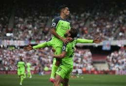 """Kovoje dėl didžiojo ketverto - triuškinanti """"Liverpool"""" pergalė, """"Hull City"""" traukiasi iš """"Premier"""" lygos (VIDEO)"""