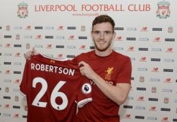 """Oficialu: A. Robertsonas tapo """"Liverpool"""" naujoku"""