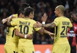 """""""Monaco"""" įvarčių mašiną į priekį vedė hat-tricką pelnęs R. Falcao, Neymaro debiutas pažymėtas įvarčiu (VIDEO)"""