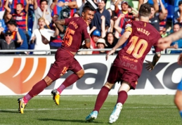 """Paulinho įvartis rungtynių pabaigoje atnešė pergalę """"Barcai"""" (VIDEO)"""