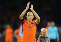 A. Robbenas: Nyderlandų rinktinei ateis geresni laikai