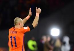A. Robbenas paskelbė apie karjeros pabaigą Nyderlandų rinktinėje