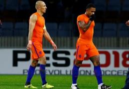 Nyderlandų rinktinės treneris dar tiki stebuklais, bet A. Robbenas vilčių nebededa