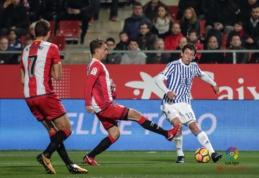"""""""Real Sociedad"""" ir """"Girona"""" pasidalino po tašką"""