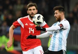Argentina tik mačo pabaigoje palaužė rusus, ispanai sutriuškino Kostą Riką (VIDEO)