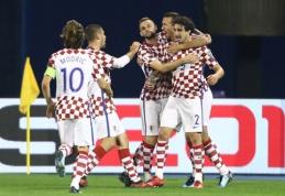 Kroatija ir Šveicarija - per žingsnį nuo patekimo į pasaulio čempionatą (VIDEO)