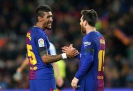 Ispanijoje - Paulinho dublis ir nerealizuotas L. Messi baudinys (VIDEO)