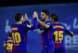 """""""Barcelona"""" ekipos nuo pergalingo žygio nesustabdė ir du """"Real Sociedad"""" įvarčiai (VIDEO)"""