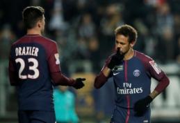 """PSG vos palaužė """"Amiens"""", į taurės pusfinalį taip pat pateko """"Rennes"""" ir """"Montpellier"""" (VIDEO)"""