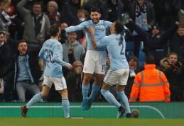 """Anglijos lygos taurės pusfinalyje - sunki """"Man City"""" pergalė (VIDEO)"""