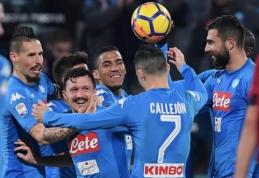 """""""Napoli"""" išvykoje sudaužė """"Cagliari"""" (VIDEO)"""