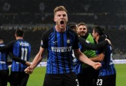 """""""Inter"""" atkaklioje kovoje prieš """"Benevento"""" gelbėjo vidurio gynėjai (VIDEO)"""