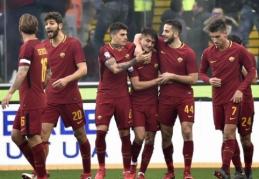 """""""Roma"""" įveikė """"Udinese"""" ir aplenkė pralaimėjusį """"Inter"""" (VIDEO)"""