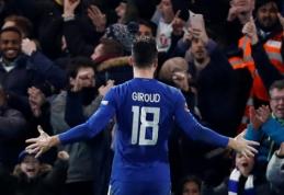 """O. Giroud pasiekė savo pirmąjį įvartį, o """"Chelsea"""" žengė į FA taurės ketvirtfinalį (VIDEO)"""