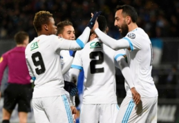 """""""Marseille"""" taurėje įmušė net devynis įvarčius, PSG į pergalę atvedė A. Di Maria (VIDEO)"""