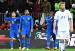 Brazilai antrajame kėlinyje nubaudė pasaulio čempionato šeimininkus (VIDEO)