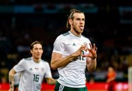 """""""Hat-tricku"""" prieš kinus pasižymėjęs G. Bale'as tapo rezultatyviausiu Velso rinktinės žaidėju (VIDEO)"""