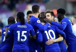 """""""Chelsea"""" iškovojo itin svarbią pergalę, """"Liverpool"""" prarado taškus (VIDEO)"""