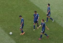 Antifutbolą demonstravusi Japonija ir po pralaimėjimo lenkams keliauja į aštuntfinalį (VIDEO)