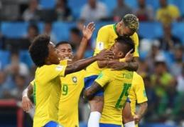Su serbais susitvarkiusi Brazilija užėmė pirmąją vietą grupėje (VIDEO)