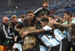 """Po rinktinės išsigelbėjimo - pasikeitęs Argentinos spaudos tonas: """"Tikime stebuklais"""""""