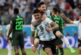 M. Rojo įvartis rungtynių pabaigoje išgelbėjo Argentiną nuo tragedijos pasaulio čempionate (VIDEO)