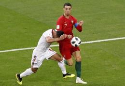 Ar C.Ronaldo turėjo būti parodyti raudona kortelė? (VIDEO)