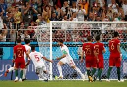 Nervų karą mačo pabaigoje atlaikę portugalai iš antros pozicijos žengė į aštuntfinalį (VIDEO)