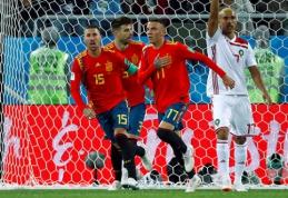 Emocingame mače lygiąsias išplėšusi Ispanija sugebėjo grupėje užimti pirmąją vietą (VIDEO)