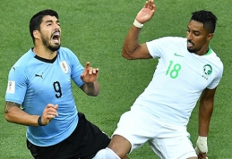 Sirgaliai įvarčių fiestos neišvydo: Urugvajus - S.Arabija 1:0 (VIDEO)
