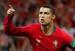Po įspūdingo C. Ronaldo pasirodymo - futbolo garsenybių pagyros
