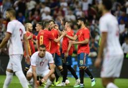 Ispanija tik mačo pabaigoje palaužė Tunisą, prancūzai neįveikė amerikiečių (VIDEO)