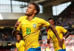 Brazilijos pergalė prieš kroatus pažymėta meistrišku Neymaro įvarčiu (VIDEO)
