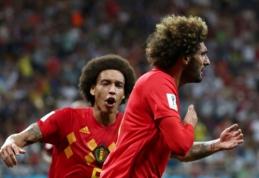 Dviejų įvarčių deficitą panaikinę belgai japonus įveikė paskutinę mačo minutę (VIDEO)