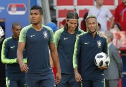 """""""1000 eurų iššūkis"""". R. Vyšniauskas: lauksiu techniško Brazilijos žaidimo su kamuoliu"""