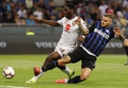 """""""Inter"""" iššvaistė dviejų įvarčių persvarą prieš """"Torino"""", """"Fiorentina"""" sudaužė """"Chievo"""""""