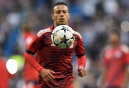 """Patikimi šaltiniai: Thiago gali tapti Madrido """"Real"""" žaidėju"""