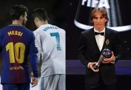 Rinktinių atstovų balsai: Messi į savo trejetuką įtraukė Ronaldo, Černychas ir Jankauskas išreiškė simpatijas Modričiui