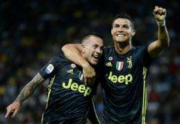 """C. Ronaldo atvedė """"Juventus"""" į eilinę pergalę, dukart pirmavusi """"Milan"""" išleido taškus iš rankų prieš """"Atalanta"""""""